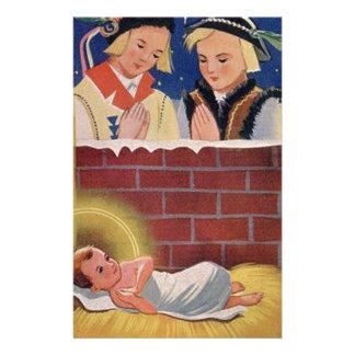 Papelaria Do Natal polonês de Wesołyeh Świąt do vintage arte