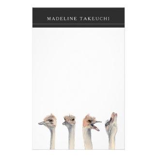 """Papelaria Do """"pintura engraçada das avestruzes da rainha"""