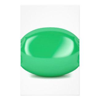 Papelaria Doces duros envolvidos verde
