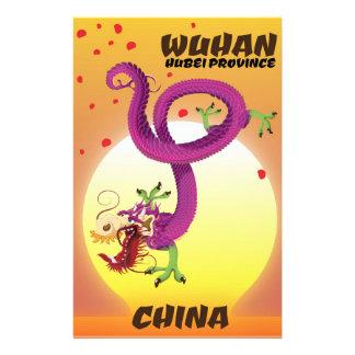 Papelaria Dragão da porcelana da província de Wuhan Hubei