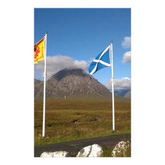 Papelaria duas bandeiras de Scotland