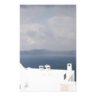Papelaria Duas cadeiras na ilha de Santorini