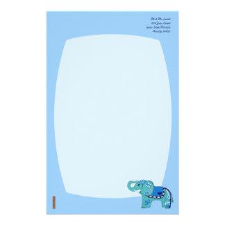 Papelaria Elefante do Henna (azul/luz - azul)