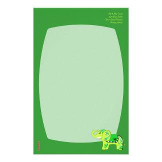 Papelaria Elefante do Henna (verde/verde limão)