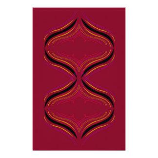 Papelaria Elementos do design vermelhos escuro