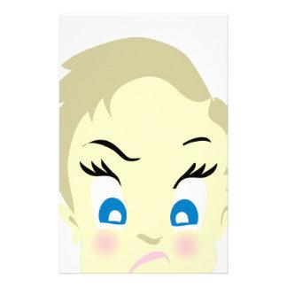 Papelaria emoji do bebê - agressivo