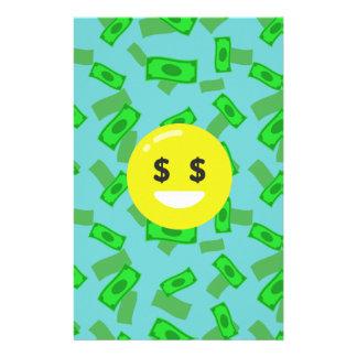 Papelaria emoji eyed dinheiro