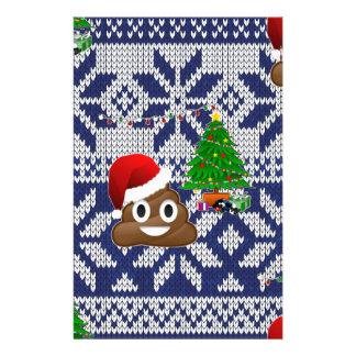 Papelaria emoji feio do tombadilho da camisola do Natal