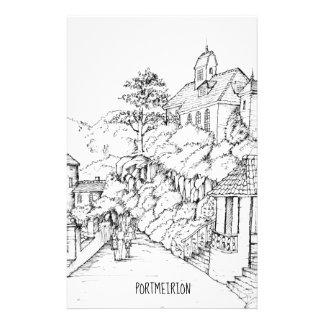 Papelaria Esboço norte da caneta e da tinta de Portmeirion