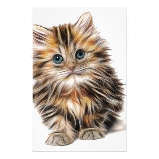 Papelaria escala do design do fractal do gatinho