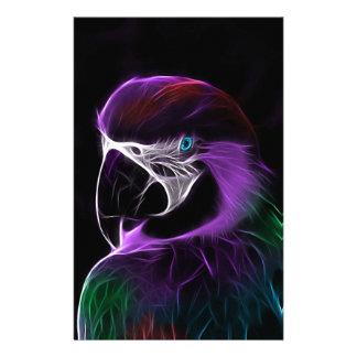 Papelaria escala do design do fractal do papagaio