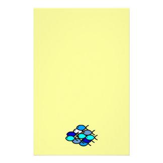 Papelaria Escola de símbolos cristãos dos peixes - azul -
