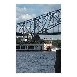 Papelaria Espírito de Dubuque no rio Mississípi