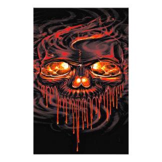 Papelaria Esqueletos vermelhos sangrentos