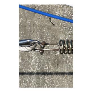 Papelaria Estilingue da corda com o grilhão de âncora da