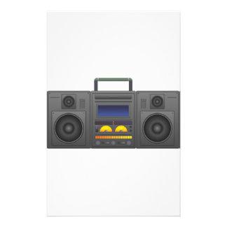 Papelaria estilo Boombox de Hip Hop dos anos 80