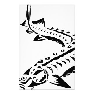 Papelaria Esturjão tribal - beluga de Huso