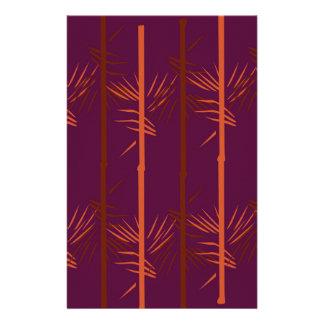 Papelaria Ethno de bambu da edição do vinho do design
