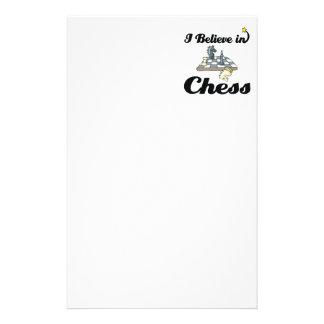 Papelaria eu acredito na xadrez