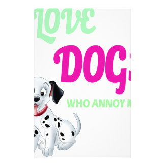 Papelaria eu amo cães que é pessoas que me irrita