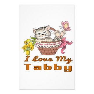 Papelaria Eu amo meu gato malhado