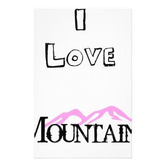 Papelaria Eu amo montanhas