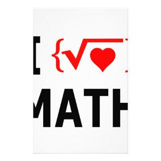 Papelaria Eu amo o branco da matemática