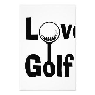 Papelaria Eu amo o golfe
