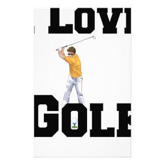 Papelaria Eu amo o golfe 01