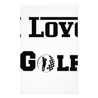 Papelaria Eu amo o golfe 2