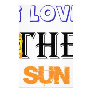 Papelaria Eu amo The Sun