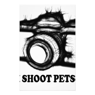 Papelaria Eu disparo em animais de estimação