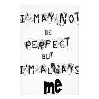 Papelaria Eu não posso ser perfeito mas sempre mim