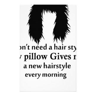 Papelaria Eu não preciso um cabeleireiro, meu travesseiro
