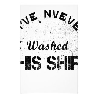 Papelaria Eu nunca lavei esta camisa