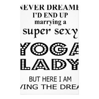 """Papelaria Eu nunca sonhei casando uma senhora """"sexy"""" da ioga"""