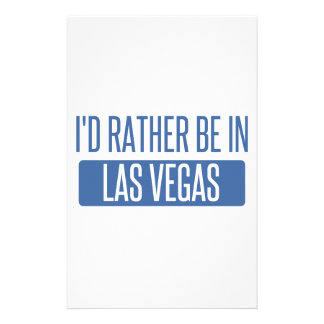 Papelaria Eu preferencialmente estaria em Las Vegas