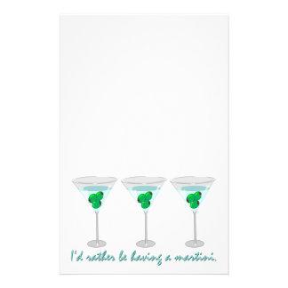 Papelaria Eu preferencialmente estaria tendo um martini.