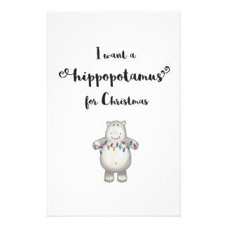 Papelaria Eu quero um hippopotamus para o Natal