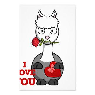 Papelaria eu te amo alpaca