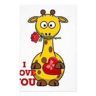 Papelaria eu te amo girafa