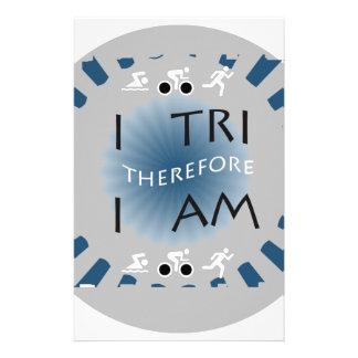 Papelaria Eu tri conseqüentemente mim sou Triathlon