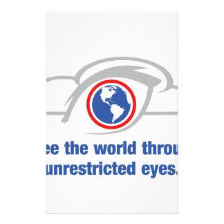 Papelaria Eu ver o mundo através dos olhos ilimitados