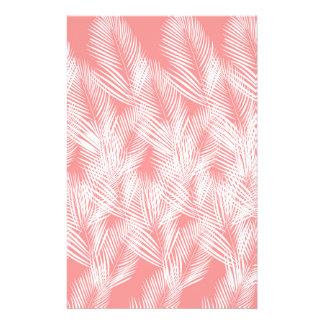 Papelaria Exotico do branco do rosa das palmas do design