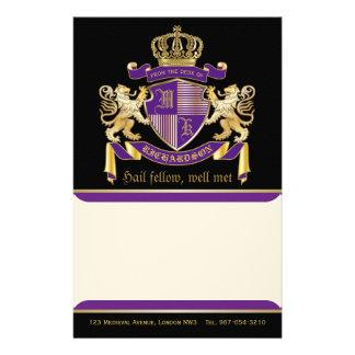 Papelaria Faça seu próprio emblema da coroa do monograma da