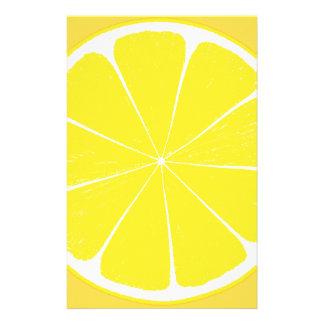Papelaria Fatia amarela brilhante dos citrinos do limão