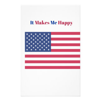 Papelaria Faz-me a bandeira americana feliz