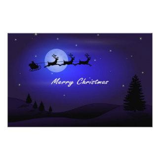 Papelaria Feliz Natal da lua do trenó do papai noel
