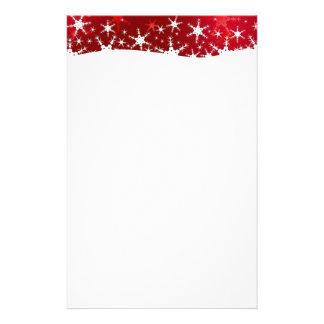 Papelaria Feliz Natal vermelho dos flocos de neve - artigos