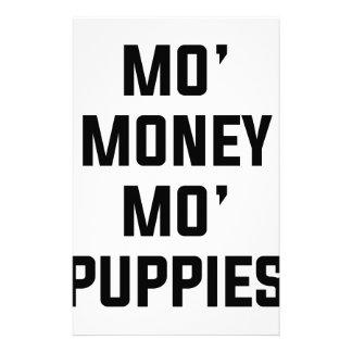 Papelaria Filhotes de cachorro do Mo do dinheiro do Mo